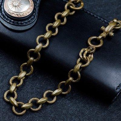 造夢師 手工製作  阿美咔嘰 復古 養牛 純黃銅鑰匙鏈 褲鏈 腰鍊