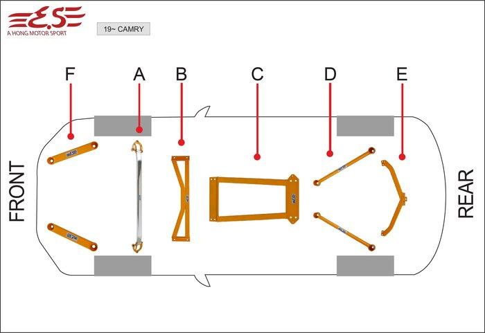 阿宏改裝部品 E.SPRING 8代 NEW CAMRY 引擎室拉桿 井字拉桿 後下拉桿 3期0利率 6件合購 TNGA