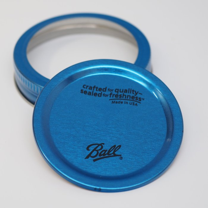 【Sunny Buy 生活館】◎現貨◎ Ball 梅森罐 窄口藍色蓋二入 果醬罐 收納罐 梅森瓶 密封罐