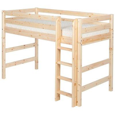 FLEXA Classic Semi-High Beds 中高床兒童房配置樓梯(A款),另提供丹麥原廠獨立筒床墊供選配。