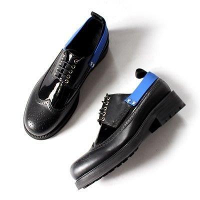 皮鞋 真皮休閒雕花厚底鞋-撞色後帶英倫巴洛克男鞋3色73kv25[獨家進口][米蘭精品]