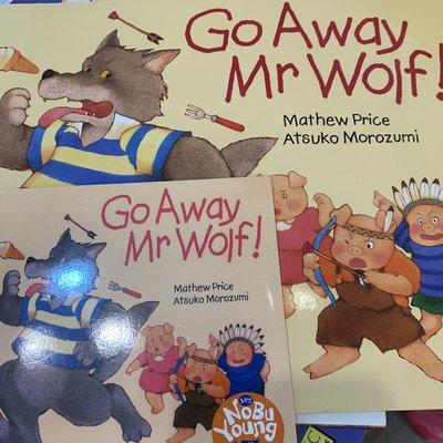 【二手英文繪本】Go away Mr. Wolf 附CD