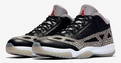 Nike Air Jordan 11 Low IE Black Cement 低筒經典爆裂紋 919712。太陽選物社
