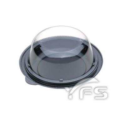 RDC-6食品盒(小) (底PS/蓋OPS) (提拉米蘇/奶油蛋糕/海綿蛋糕/圓形蛋糕盒)