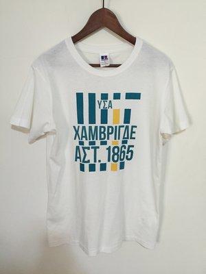 RUSSELL ATHLETIC X INHERIT JOURNAL STANDARD 短袖T恤 文字LOGO白色 L號