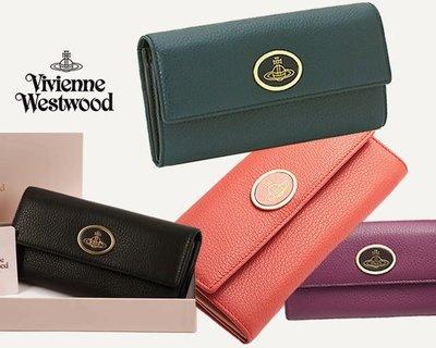 Vivienne Westwood 真皮兩摺長夾 皮夾 錢包 |100%全新正品|特價!