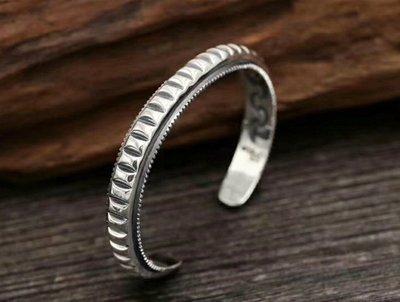 嗨,寶貝銀飾珠寶* 925純銀☆925泰銀 泰國工藝 時尚潮流 個性開口純銀手環 手鐲