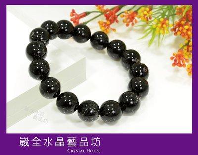 【崴全水晶】領袖 水晶 濃密 黑髮晶 手鍊 【13mm】 手珠 飾品