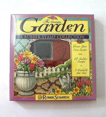 陽光一品DIY卡片印章專賣店~RS盒裝海綿印章組-花園~# 951.03 #~美國製絕版品