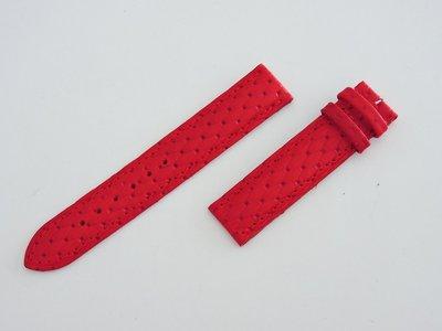全新18mm 義大利 法拉利紅真皮牛皮編織紋錶帶 188mm BREITLING百年靈卡地亞cartier替代