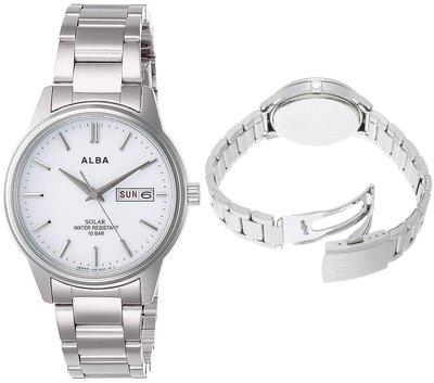 日本正版 SEIKO 精工 ALBA AEFD563 男錶 男用 手錶 太陽能充電 日本代購