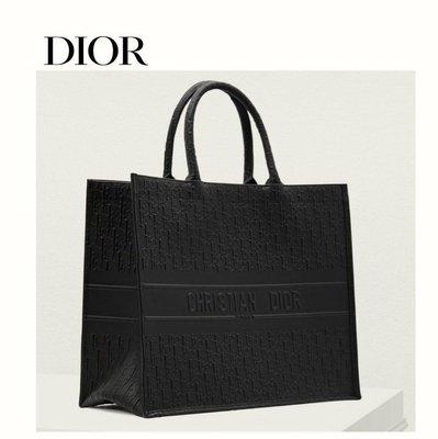 DIOR ► book tote( 黑色 )LOGO壓紋  / 35×42×18cm / 方型 真皮 大托特包 手提包 肩背包|100%全新正品|特價