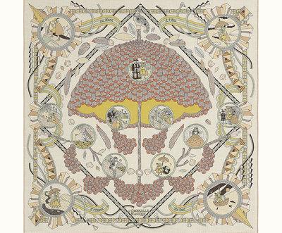 [預購]Hermes L'Ombrelle Magique shawl 140x 140 愛馬仕 絲巾 圍巾