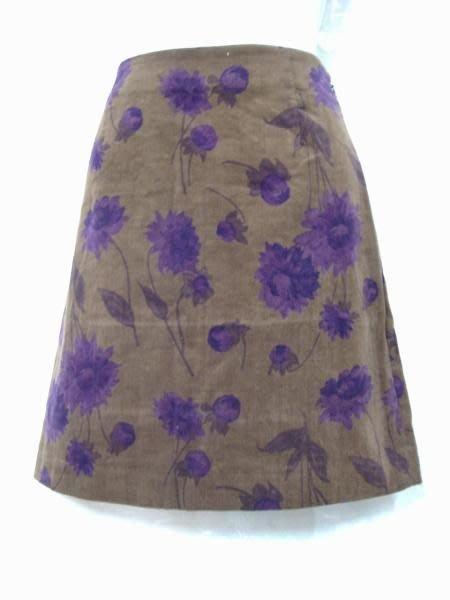 ~麗麗ㄉ大碼舖~#4(28寸)深駝色印花.棉絨彈性短裙~小碼拍賣~