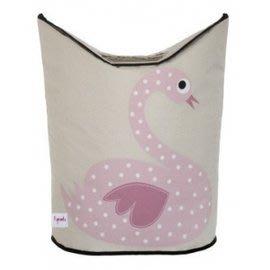 加拿大 3 Sprouts 粉紅天鵝洗衣籃 超大容量好收納