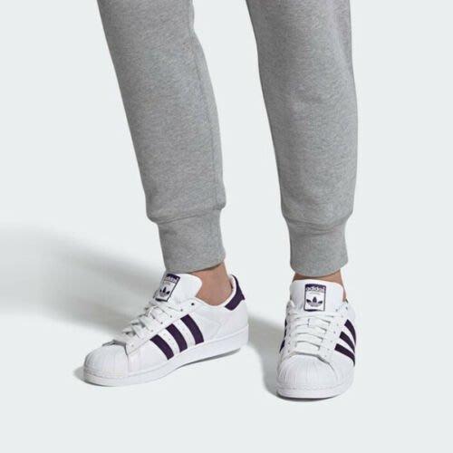 南 2019 11月 Adidas Originals Superstar  EF9241  白紫色  三葉草 男女款