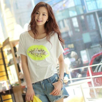 =EF依芙=早班車13017 韓國 首爾時尚精品 東大門同步上新韓版女T恤 高檔絲光棉韓版女T恤