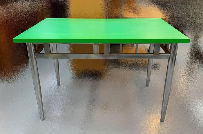 【宏品二手家具館】全新中古家具家電出清 E42967*綠面不鏽鋼腳會議桌* 各式辦公鐵櫃/文件櫃/電腦桌/活動櫃優惠特價