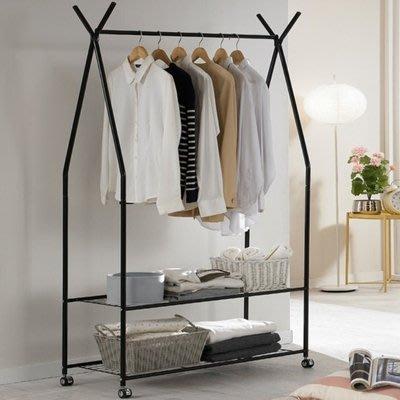 『i-Home』衣架落地衣帽架臥室簡約白色鐵藝掛衣架置衣架掛衣服架