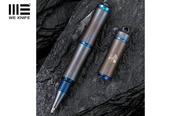 【angel 精品館 】We Knife TP-04 鈦製筆 藍色 TP-04A