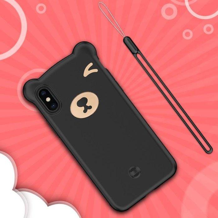 『四號出口』fashion case【 三星 S10e 】 小熊 造型 矽膠 手機殼 保護殼 附掛繩 Samsung