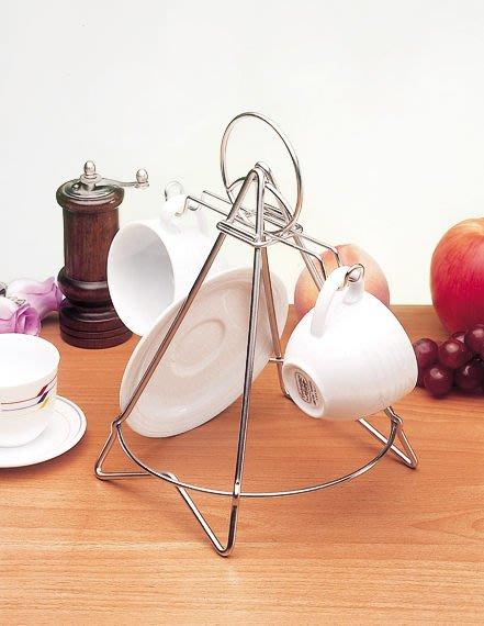 ☆成志金屬☆S-310-1A不鏽鋼雙杯咖啡杯架盤架,精巧設計~收納玩賞兼俱,咖啡達人必備精品