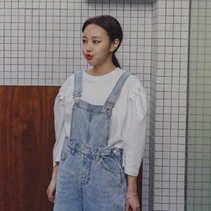 韓國精品燈籠袖氣質棉T