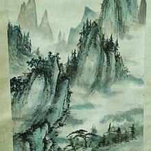 癸丑1973秋日  山雨画  - 奇山風景圖