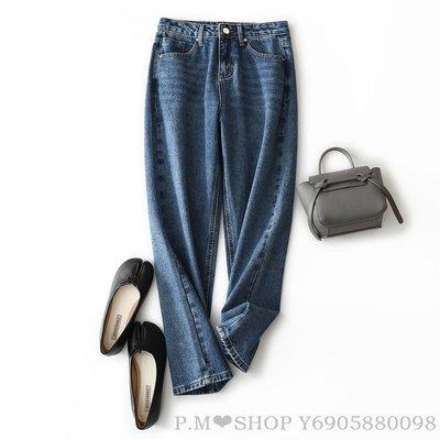 『P.M❤SHOP』春夏季新品 穿再久都不會變形!藏肉百搭直筒牛仔褲