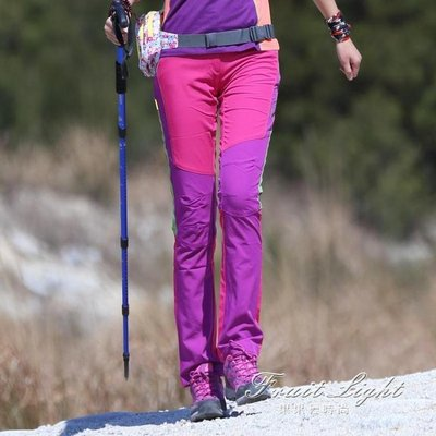 速幹褲顯瘦女褲衝鋒褲防水戶外女春夏季薄款透氣登山褲運動長褲