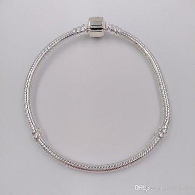 18cm 瑕疵 Pandora 925 Silver Charm 潘多拉 潘朵拉 純銀 手鐲 手鍊 Bracelet Clasp 蛇骨手鏈 590702HV