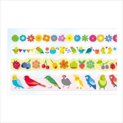 《散步生活雜貨-和紙膠帶》日本製 PINE BOOK-Assort Sheet 鳥/節慶 紙膠帶組-兩款選擇