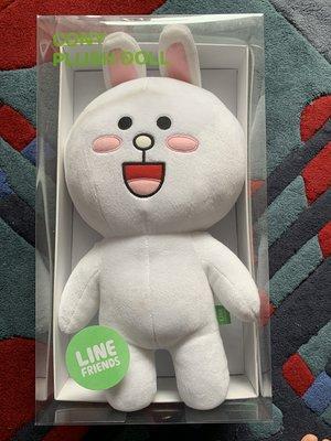 [搬家清倉 大特賣] 正版 透明盒裝 LINE 兔兔玩偶.....送禮收藏都適合