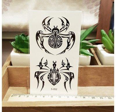 【萌古屋】S系列大蜘蛛 - 男女防水紋身貼紙刺青貼紙 S-052