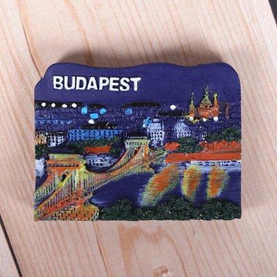 哈尼店鋪*歐式匈牙利冰箱貼布達佩斯景點立體出國旅游紀念品送外國朋友禮物優惠推薦