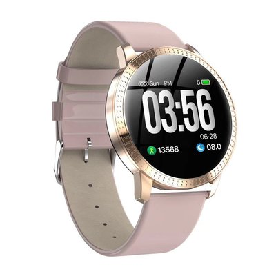 1.3吋螢幕 運動智能 手環 手錶 皮革錶帶 時尚高雅