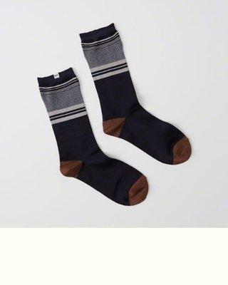 Maple麋鹿小舖 Abercrombie&Fitch * AF 條紋款中筒襪1雙入一組 *( 現貨 )