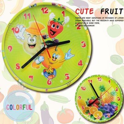 掛鐘/時鐘/擺鐘 童趣水果設計 鐘框獨特設計☆匠子工坊☆【UC0057】