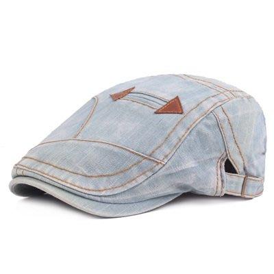貝雷 帽 鴨舌帽-牛仔做舊休閒遮陽男女帽子4色73tv41[獨家進口][米蘭精品]
