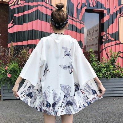 小香風 短袖T恤 時尚穿搭 女裝復古少女中國風寬松 顯瘦 防曬衣和服薄外套開衫潮