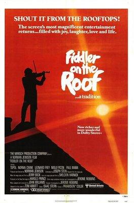 屋頂上的提琴手-Fiddler on the Roof(1971)(摺式)1979重映版電影海報