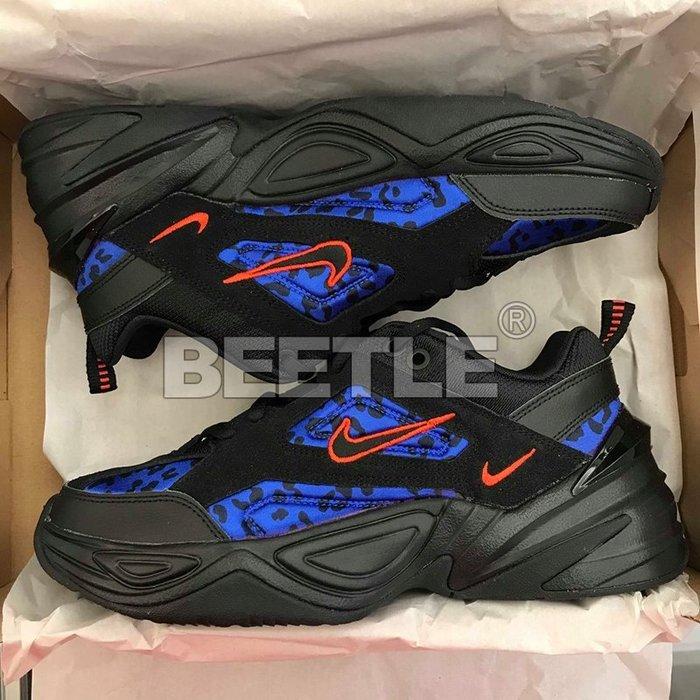 女鞋 BEETLE W NIKE M2K TEKNO BLACK LEOPARD 黑藍 豹紋 CD0181-001 26