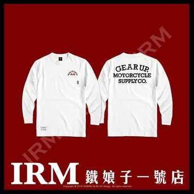【鐵娘子一號店】台灣 Taiwan 2019 GEAR UP 秋冬新款口袋 長Tee 美國純棉T 雙色 經典白