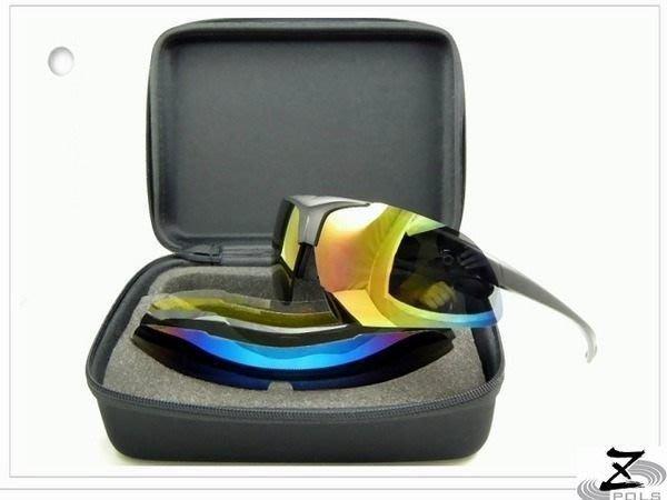 MIT三組框+七鏡片※台灣製造【Z-POLS強植炫悍三代款】新一代可掀6+1(含偏光可配度運動眼鏡