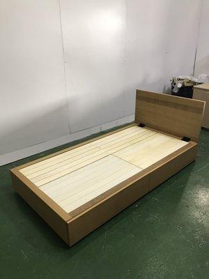 二手家具全省估價(大台北冠均 新五店)二手貨中心--無印良品橡木收納床 單人床架組 單人床組 B-9061195