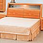 〈上穩家居〉百瑞赤陽木色造型6尺床台 雙人...