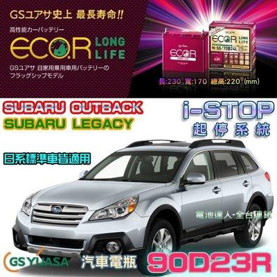 【電池達人】日本原裝 GS 90D23R 汽車電池 LUXGEN M7 U7 U6 U5 S5 GALANT IS200