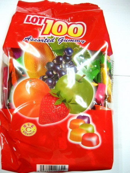 3號味蕾 量販網~馬來西亞100份QQ軟糖1000公克(綜合水果、芒果)特價240元..必買名產..另有一百份 100分