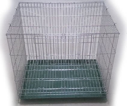 ☆汪喵小舖2店☆ 二尺白鐵折疊加高鳥籠空籠 // 不鏽鋼、適合小型鳥、中小型鸚鵡