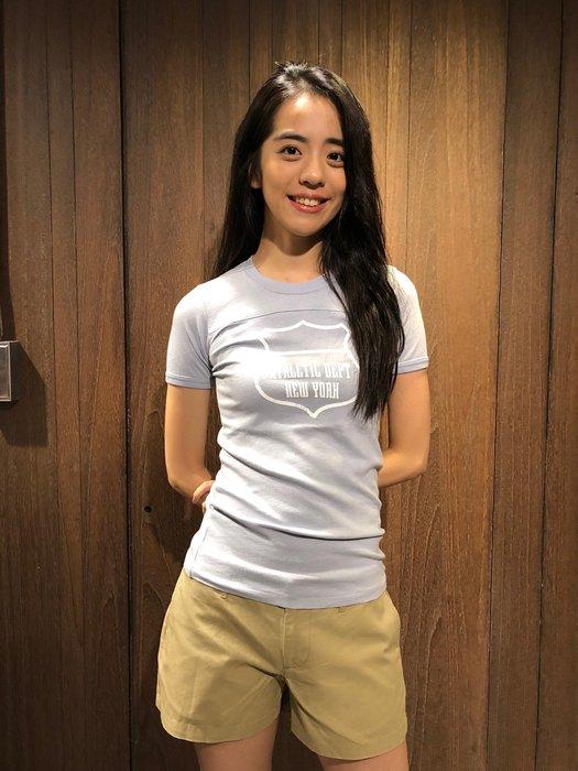 美國百分百【全新真品】 Abercrombie&Fitch T恤 AF 短袖 T-shirt 天藍 上衣 女款 AJ99